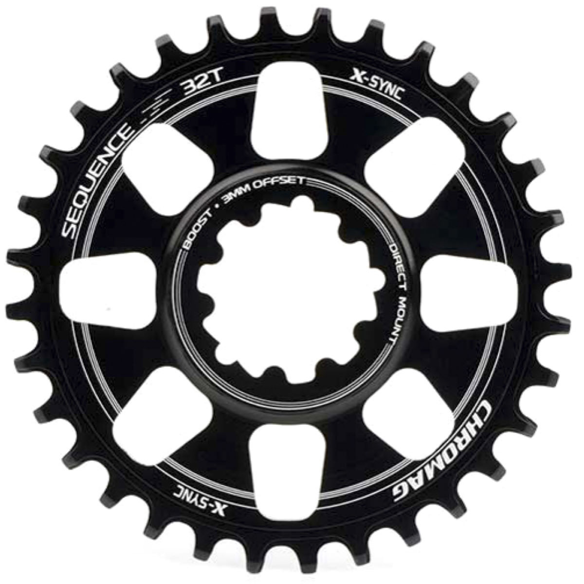 Pédalier Chromag Sequence DM Boost - 28t 9/10/11 Speed Noir Plateaux