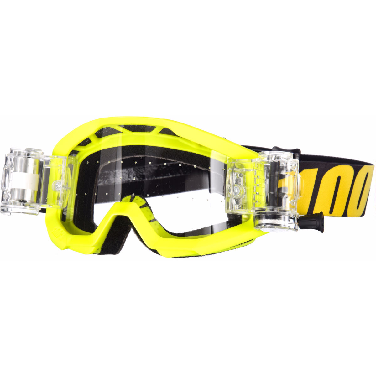 100% Strata SVS Goggles - Youth - One Size Neon Yellow - Clear
