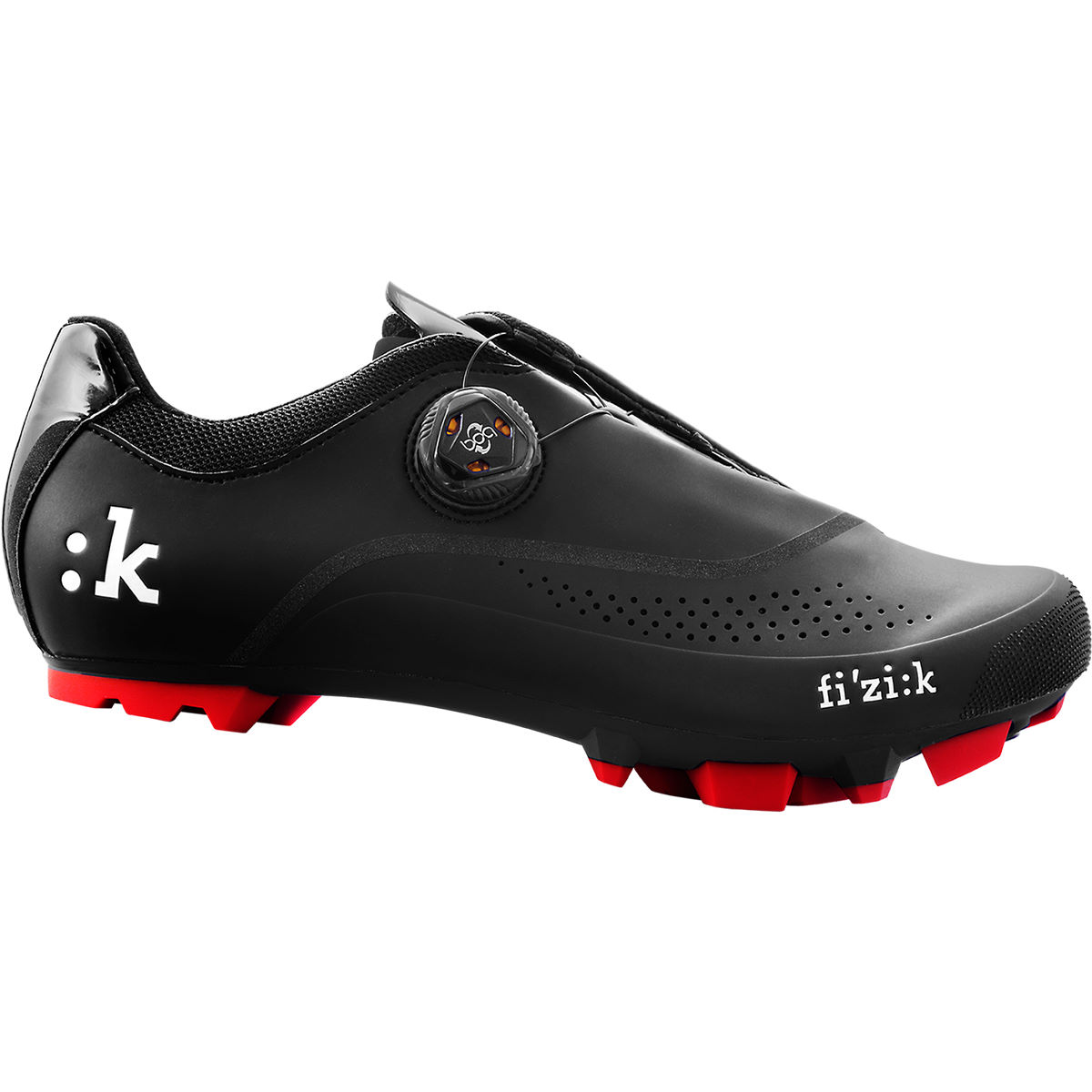 Fizik M4B MTB SPD Shoes - EU 42 Black - Red | Offroad Shoes
