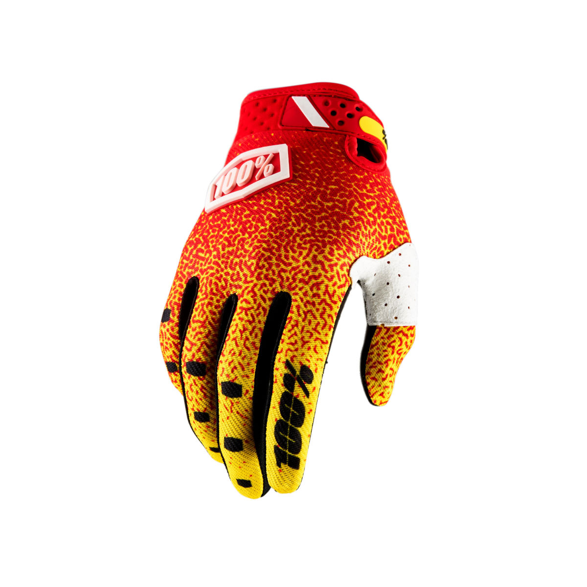 Gants 100% RideFit - XL Red - Yellow Gants