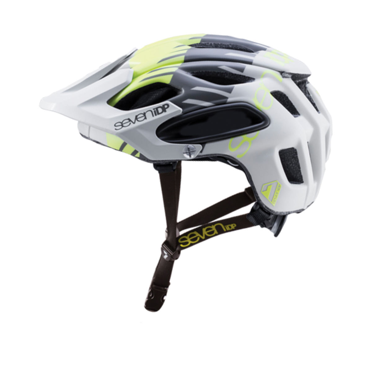 Casque 7 iDP M2 Tactic - XS/S Grey - Yellow - Blac Casques VTT