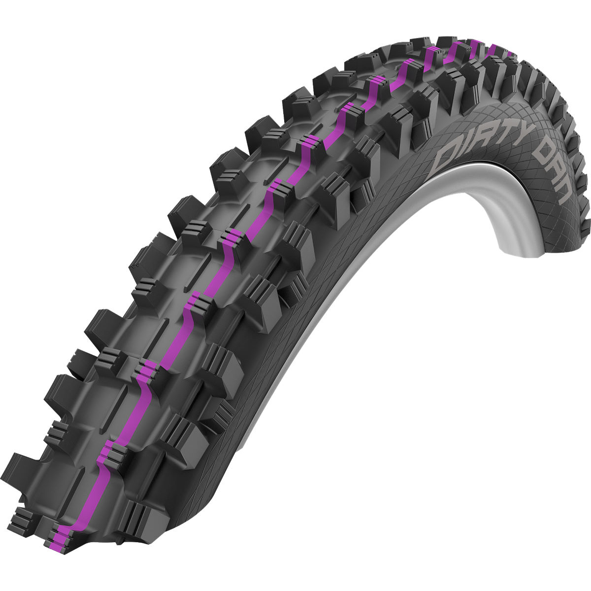Pneu VTT Schwalbe Dirty Dan Addix Downhill - 2.35'' Black/Purple