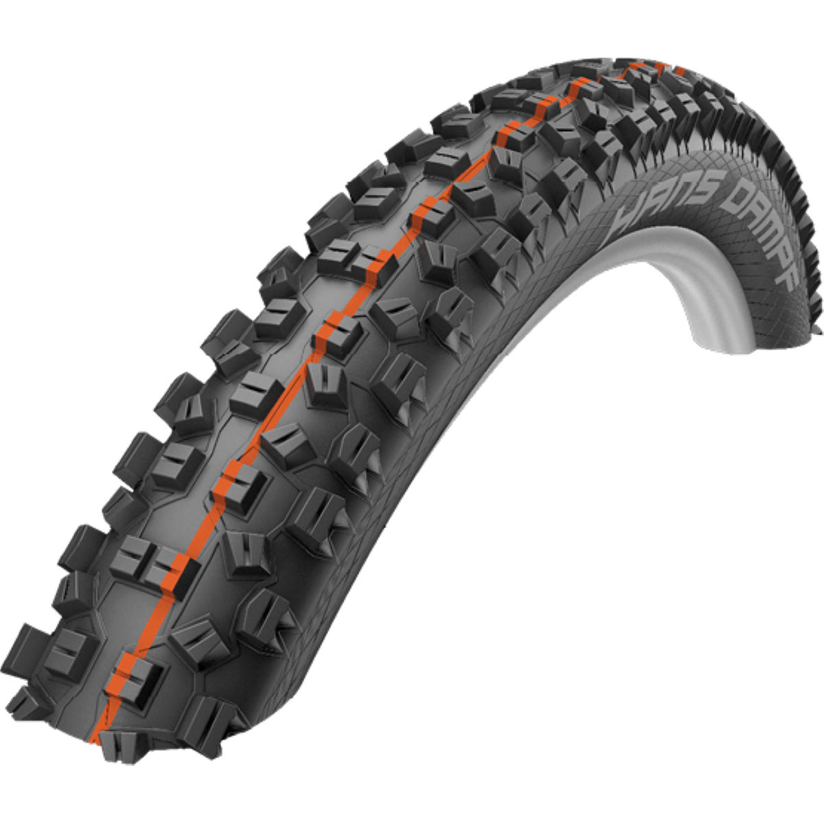 Pneu VTT Schwalbe Hans Dampf Addix SuperGravity - 2.35'' Noir/Orange