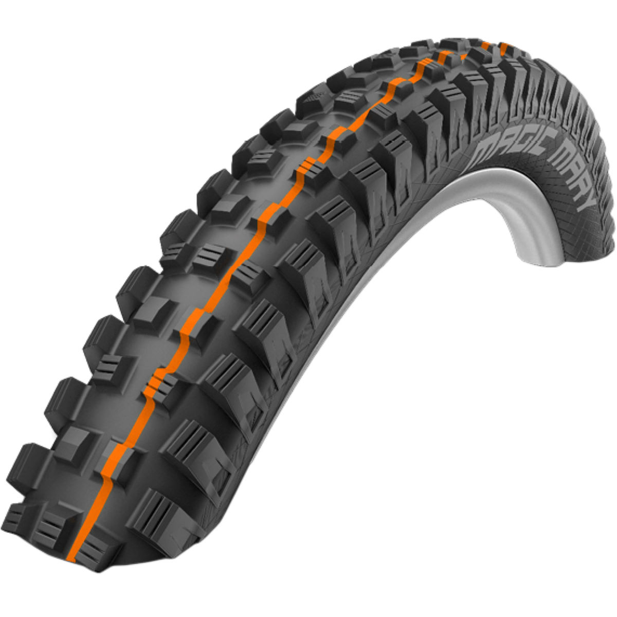 Pneu VTT Schwalbe Magic Mary Addix SuperGravity - 26'' Noir/Orange
