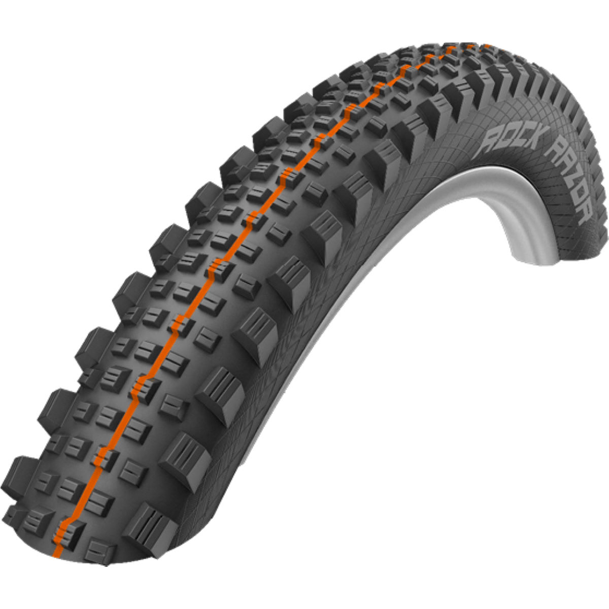 Pneu VTT Schwalbe Rock Razor Addix SuperGravity - 27.5'' Noir/Orange