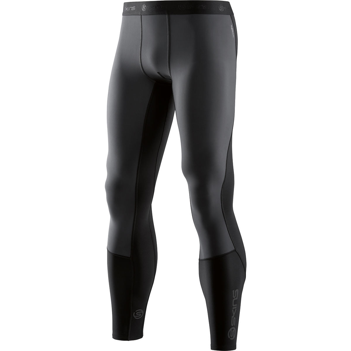 Cuissard long SKINS Thermal (coupe-vent) - S Noir