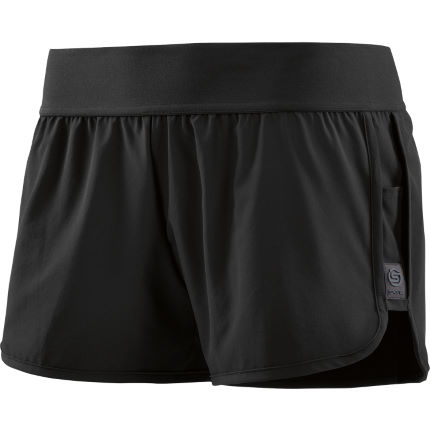 SKINS Womens Swipe Hi Lo Shorts Black M