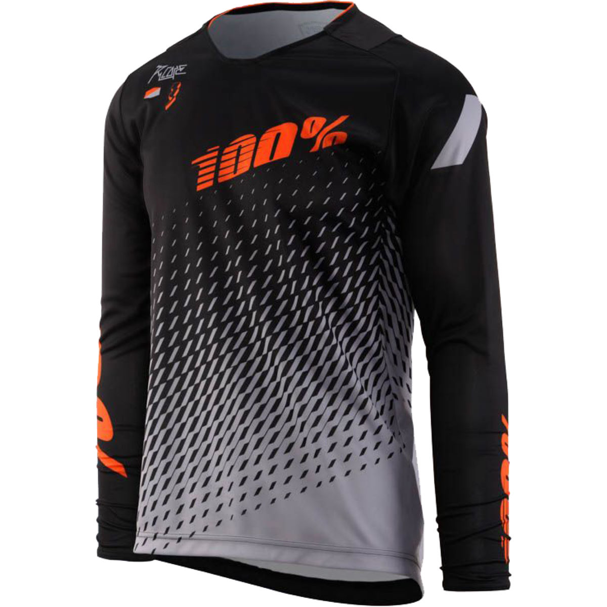 Maillot 100% R-Core Supra DH - S Black - Grey Maillots - Descente