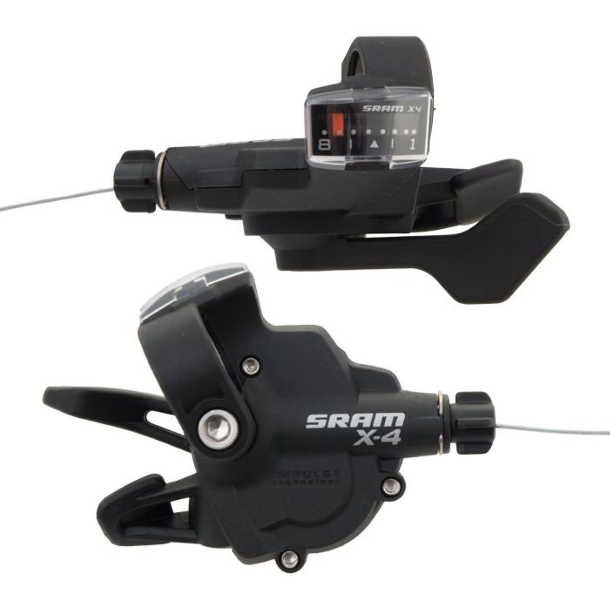 Commandes trigger SRAM X4 (8 vitesses) - 8 Speed Noir