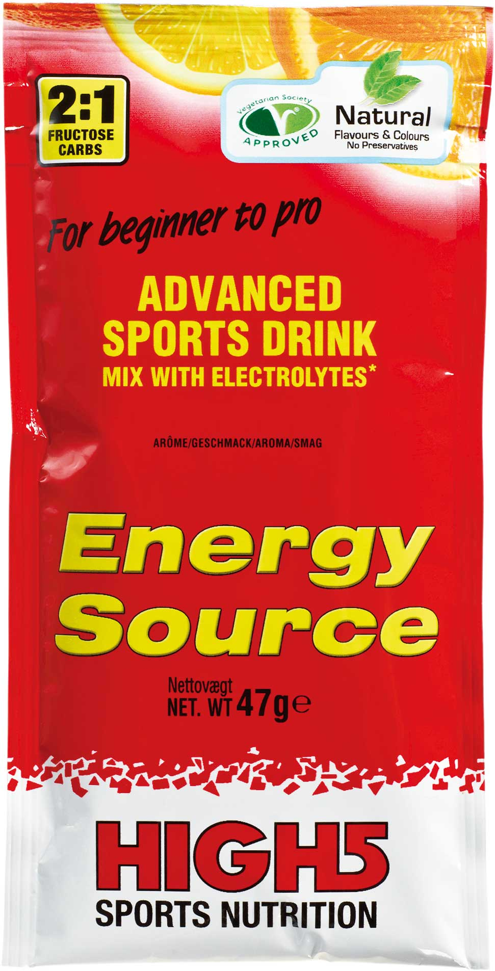Wiggle | High5 Energy Source - 12 x 47g Powder Sachets | Energy ...