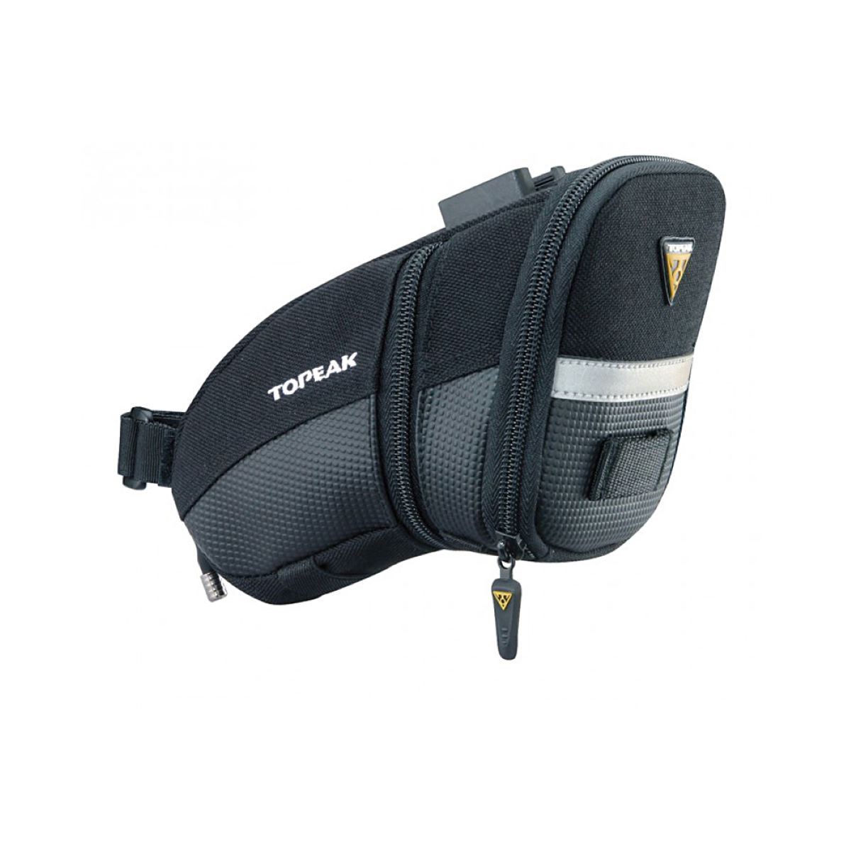 Sacoche de selle Topeak Aero Wedge (fixation clip-on, taille M) - M Noir Sacoches de selle