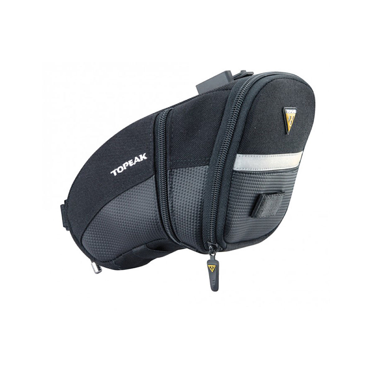 Sacoche de selle Topeak Aero Wedge (fixation clip-on, taille L) - L Noir Sacoches de selle