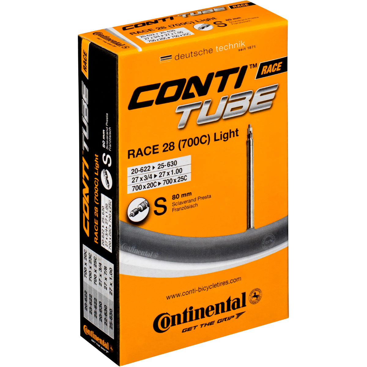Continental Light Road Long Valve Inner Tube