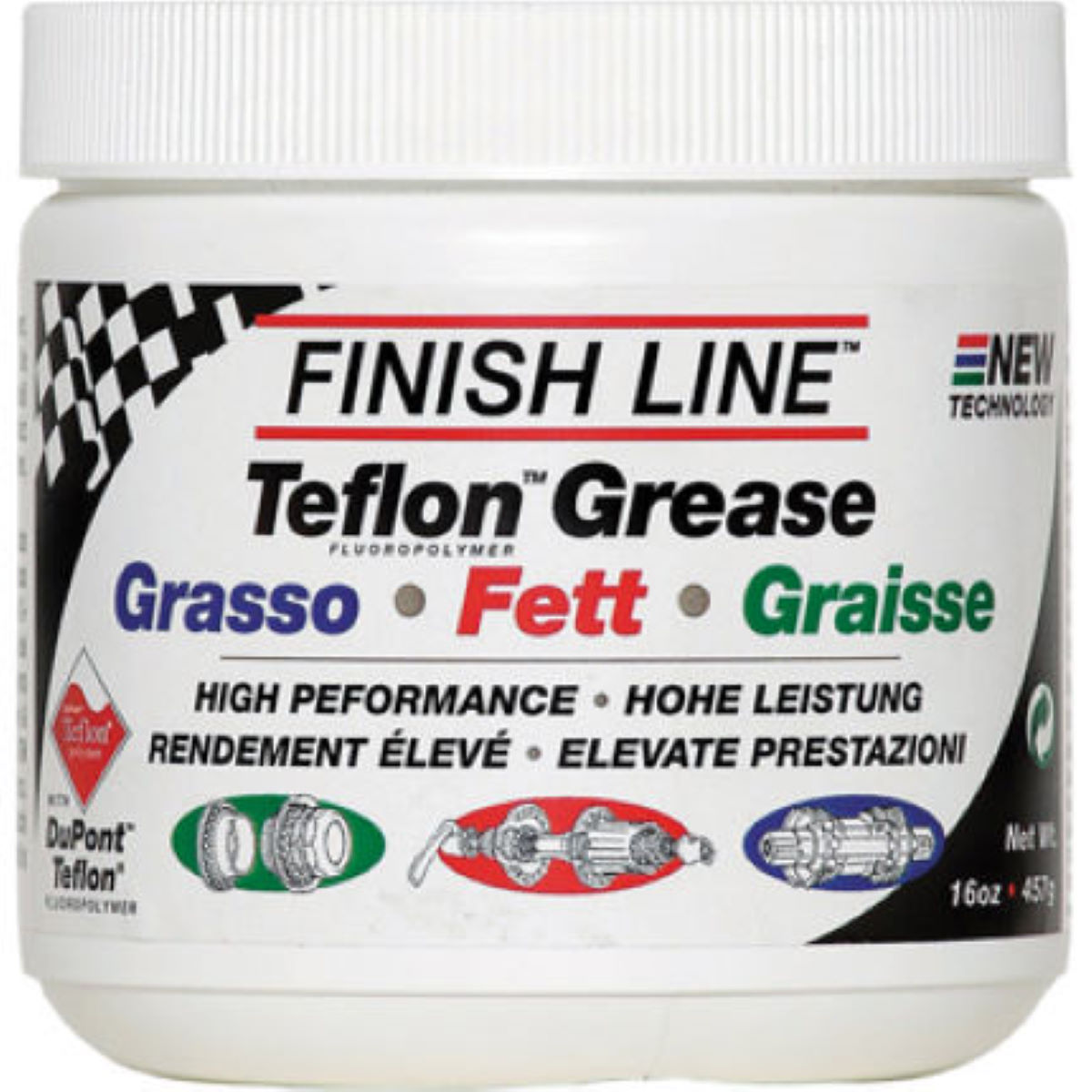 Pot de graisse Finish Line Teflon 455 g - 455g Graisse