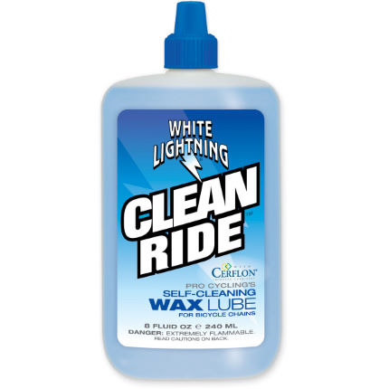 Flacone di lubrificante Clean Ride 240ml - White Lightning