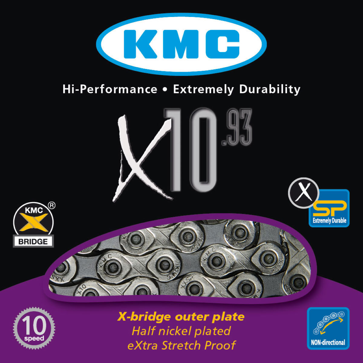 KMC X10-93 10 Speed Chain