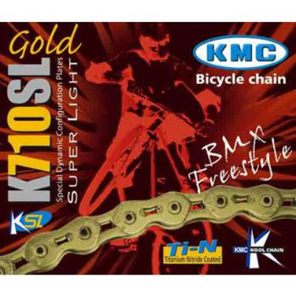 KMC K710-SL Kool Gold BMX Chain with 100 Links