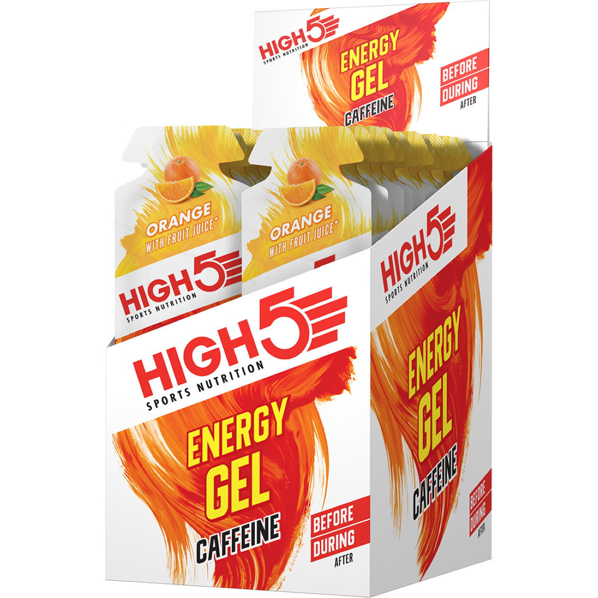 Gels High5 Energy Gel Plus (20 x 38 g) - 21-40g 11-20 Orange Gels