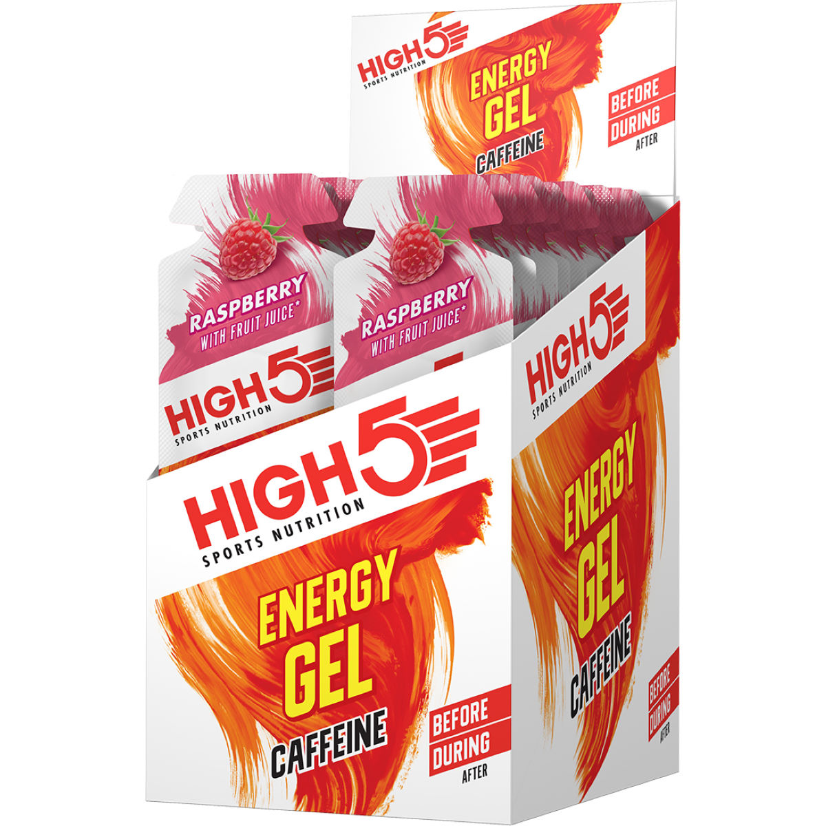 Gels High5 Energy Gel Plus (20 x 38 g) - 21-40g 11-20 Raspberry Gels
