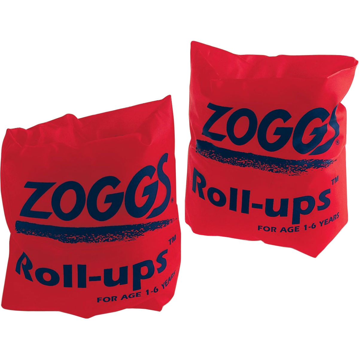 Brassards Zoggs Roll Ups - 6-12Years Up To 50kg Rouge Apprendre à nager