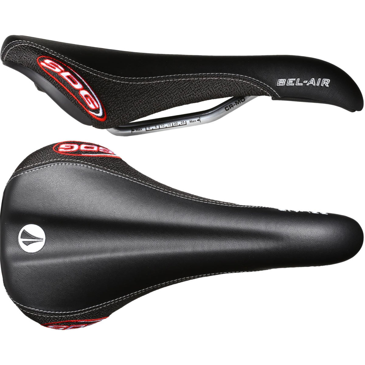Selle SDG Bel Air RL (rails en chrome-molybdène) - Kevlar Noir/Noir