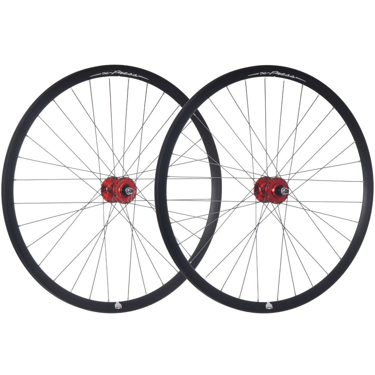 Roues de piste/route Miche X-Press - 700c - Track Only Rouge