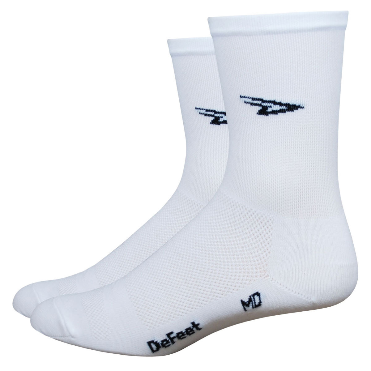 Chaussettes DeFeet Aireator High Top - S Blanc Chaussettes vélo