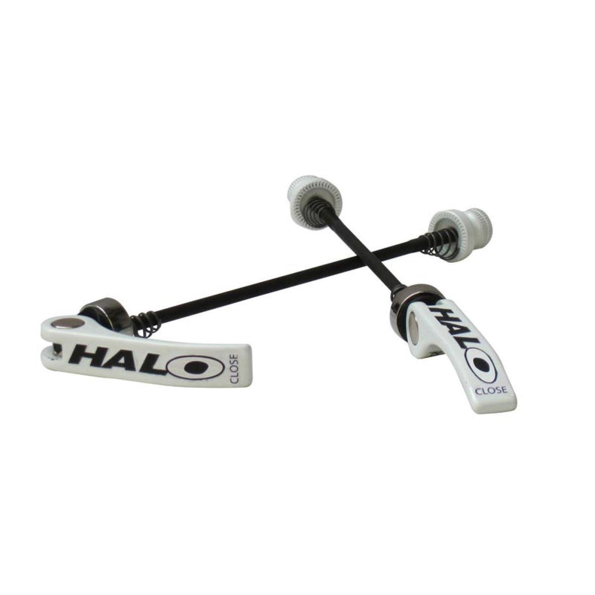 Tiges Halo Porkies XL (alliage, QR, paire) - XL (up to 8.5mm) Blanc
