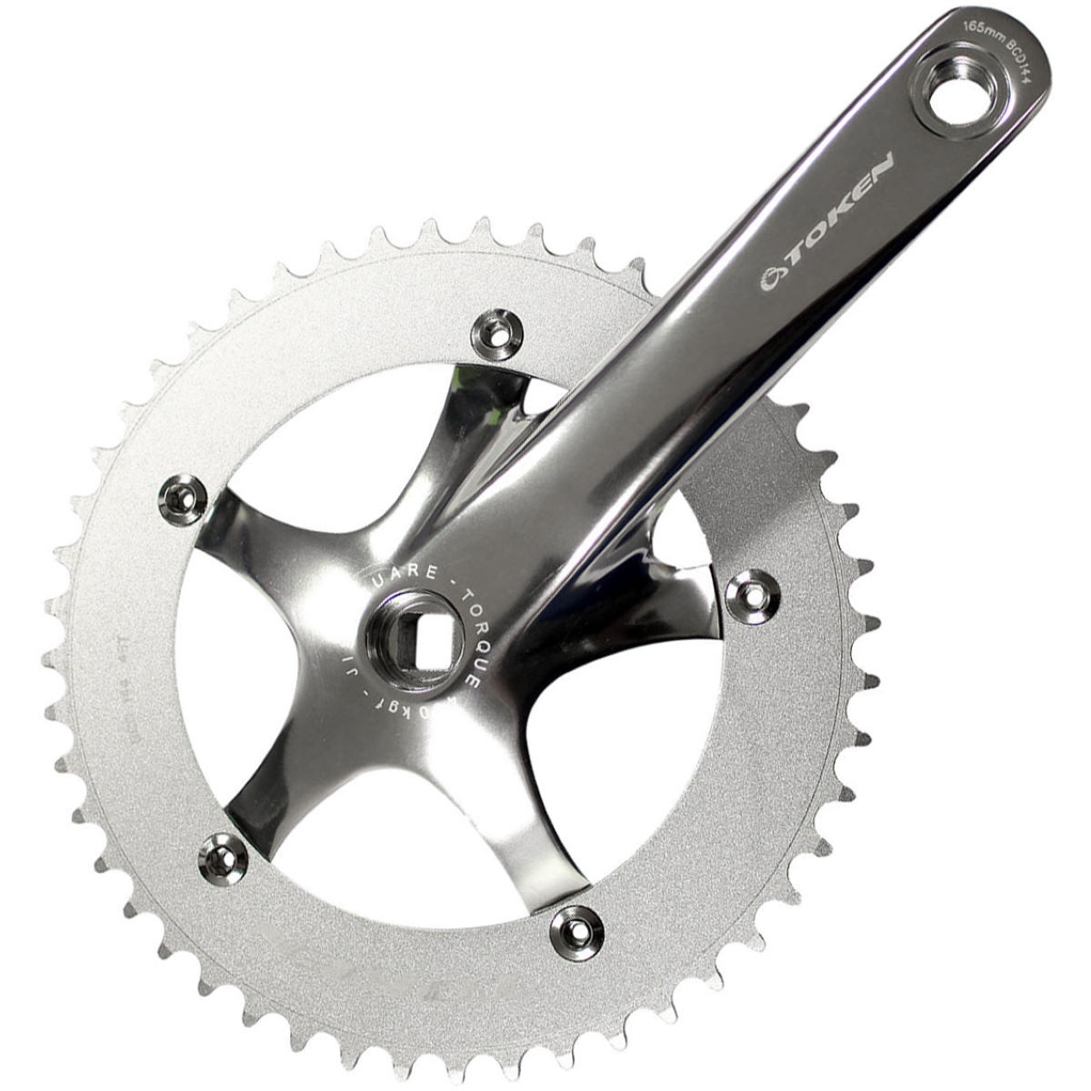 Pédalier de piste Token TK2051 (alliage) - 170mm Cranks 170mm