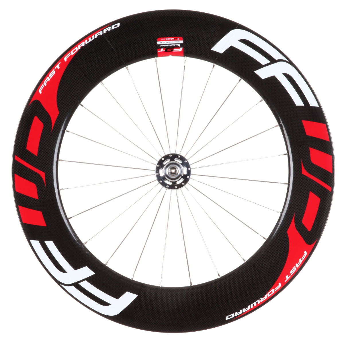 Roue avant de piste à boyau Fast Forward F9T (carbone) - 700c - Tubular Black/Red/White Roues performance