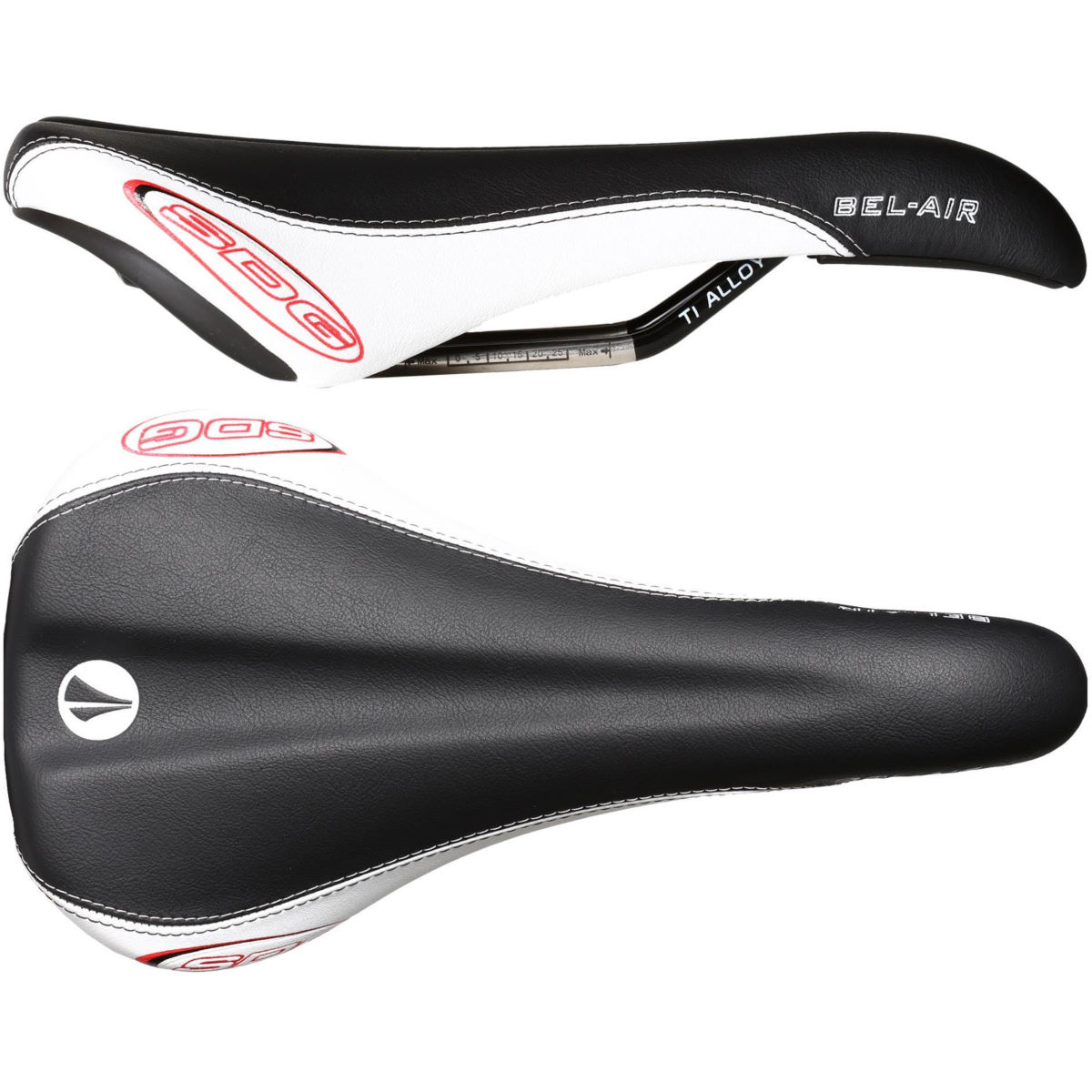 Selle SDG Bel Air RL (rails en titane/alliage) - W 140mm Noir/Blanc