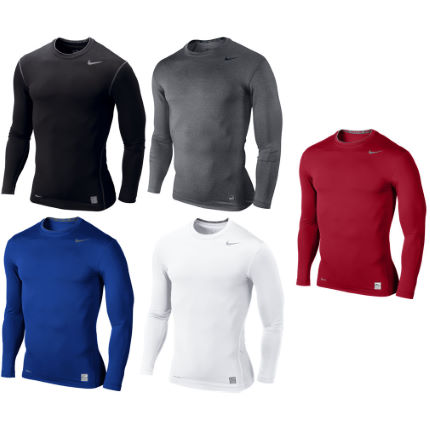 Nike Pro Core Long Sleeve Tight Compression Crew AW12