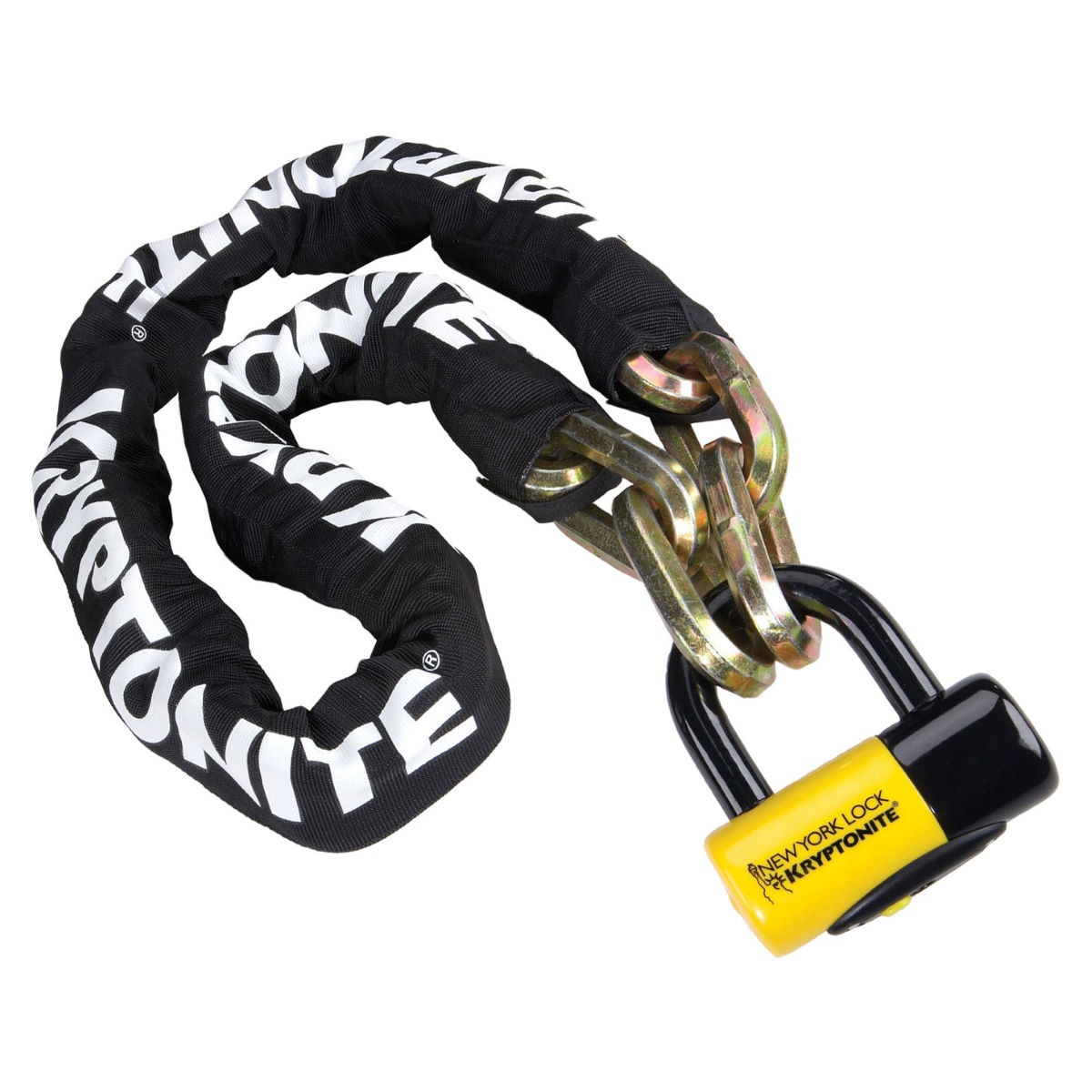 Chaîne et cadenas Kryptonite New York Fahgettaboudit (150 cm)