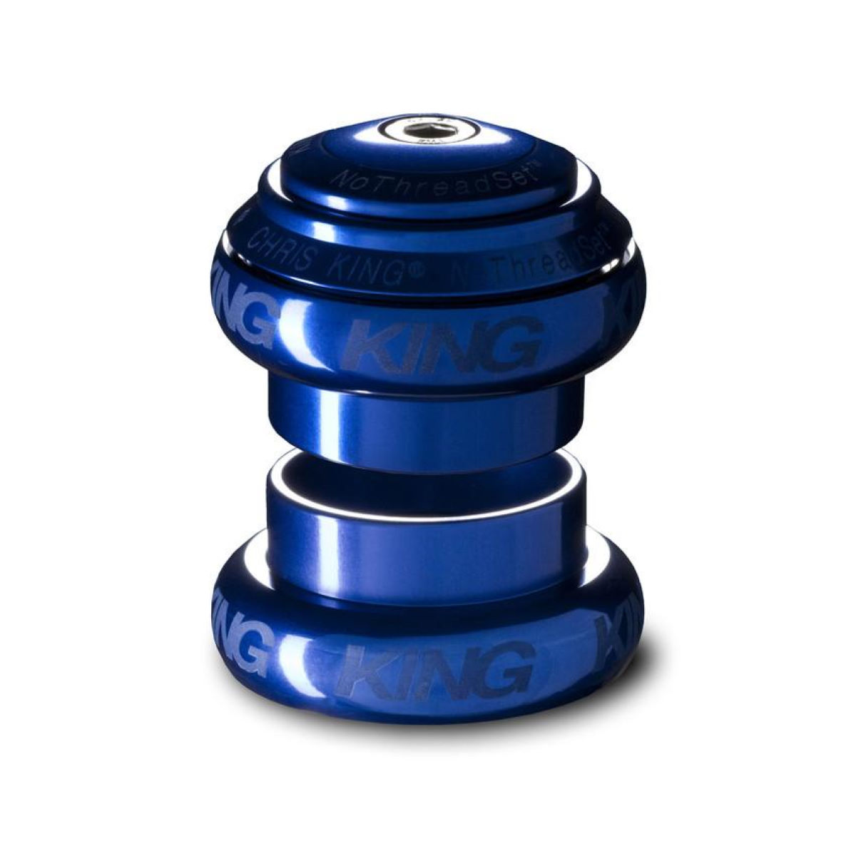 Jeu de direction Chris King No Threadset 1 1/8 pouce (alliage) - 1 1/8'' Bleu Jeux de direction