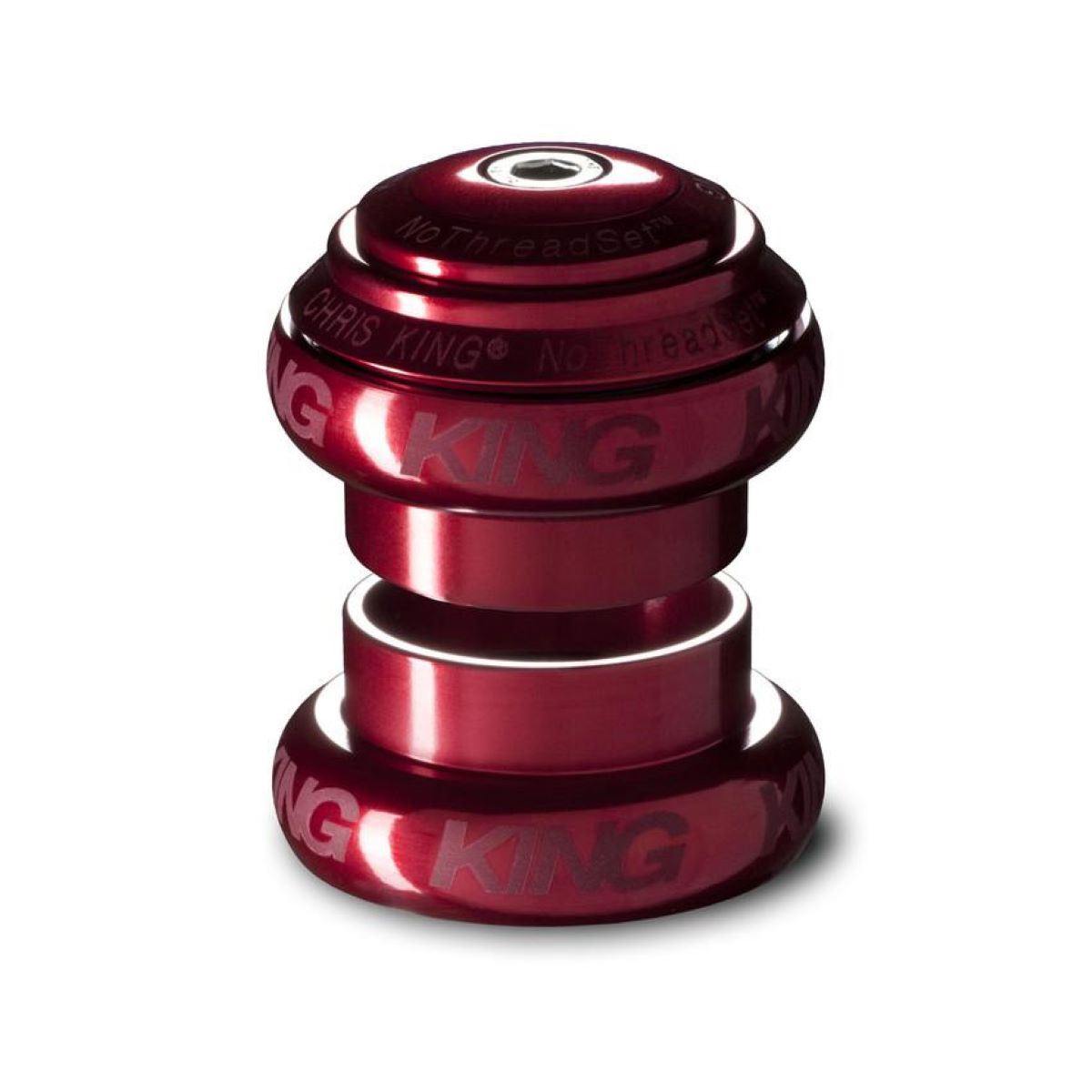 Jeu de direction Chris King No Threadset 1 1/8 pouce (alliage) - 1 1/8'' Rouge Jeux de direction