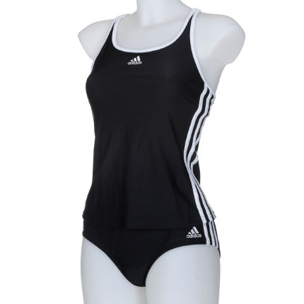 Adidas Ladies Infinitex 3 Stripe Authentic Tankini