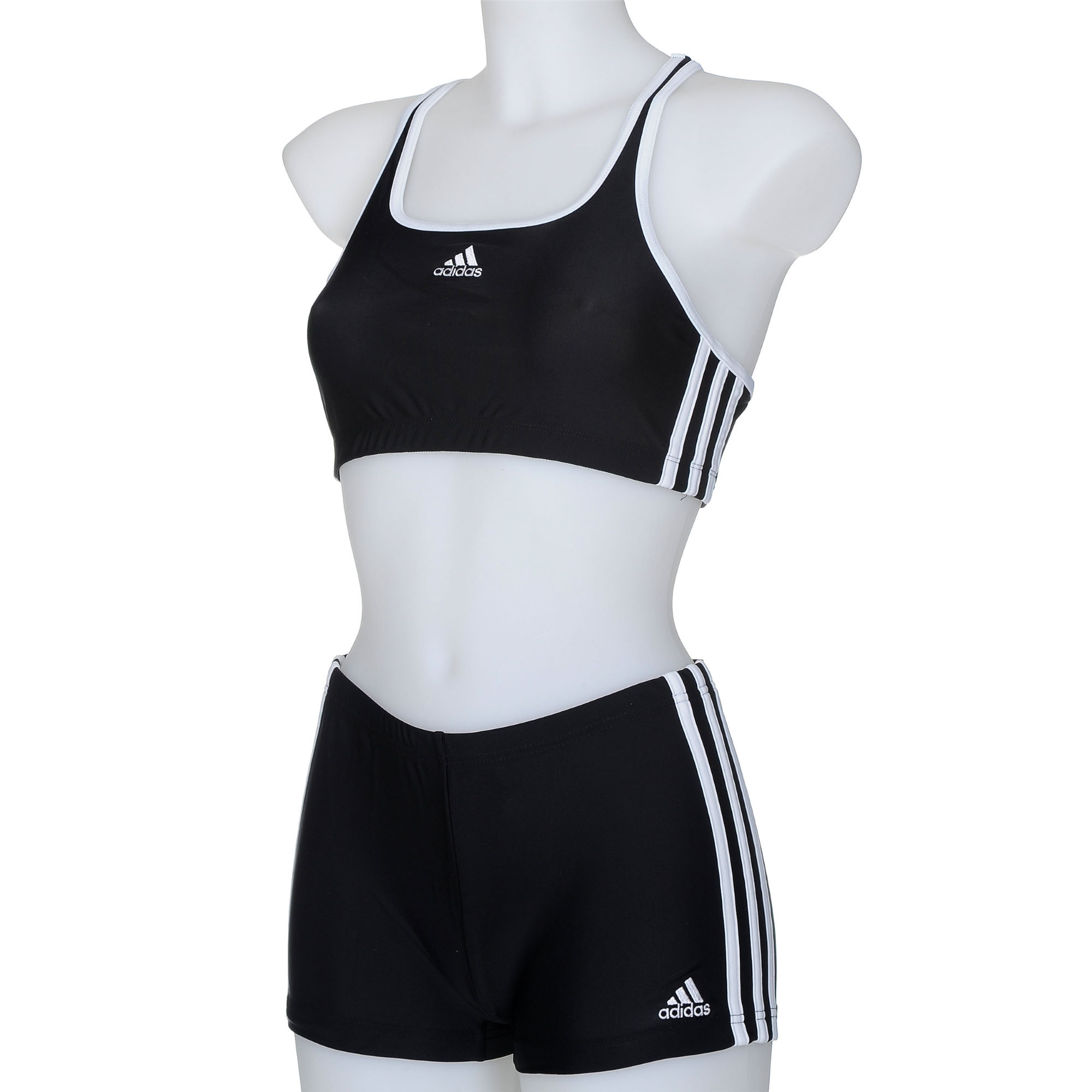 adidas ladies infinitex 3 stripe authentic bikini women 39 s swimwear. Black Bedroom Furniture Sets. Home Design Ideas