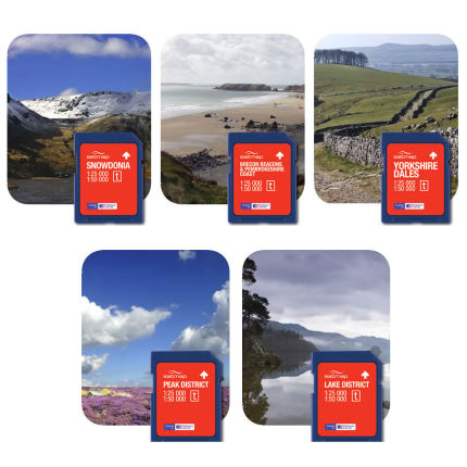 Satmap UK National Parks Toggleable SD Card