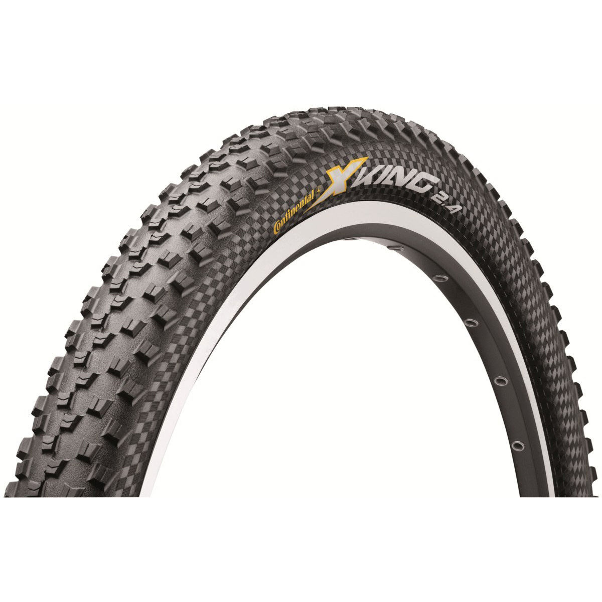 Pneu VTT Continental X King ProTection (souple) - 26 x 2.4 Noir Pneus VTT