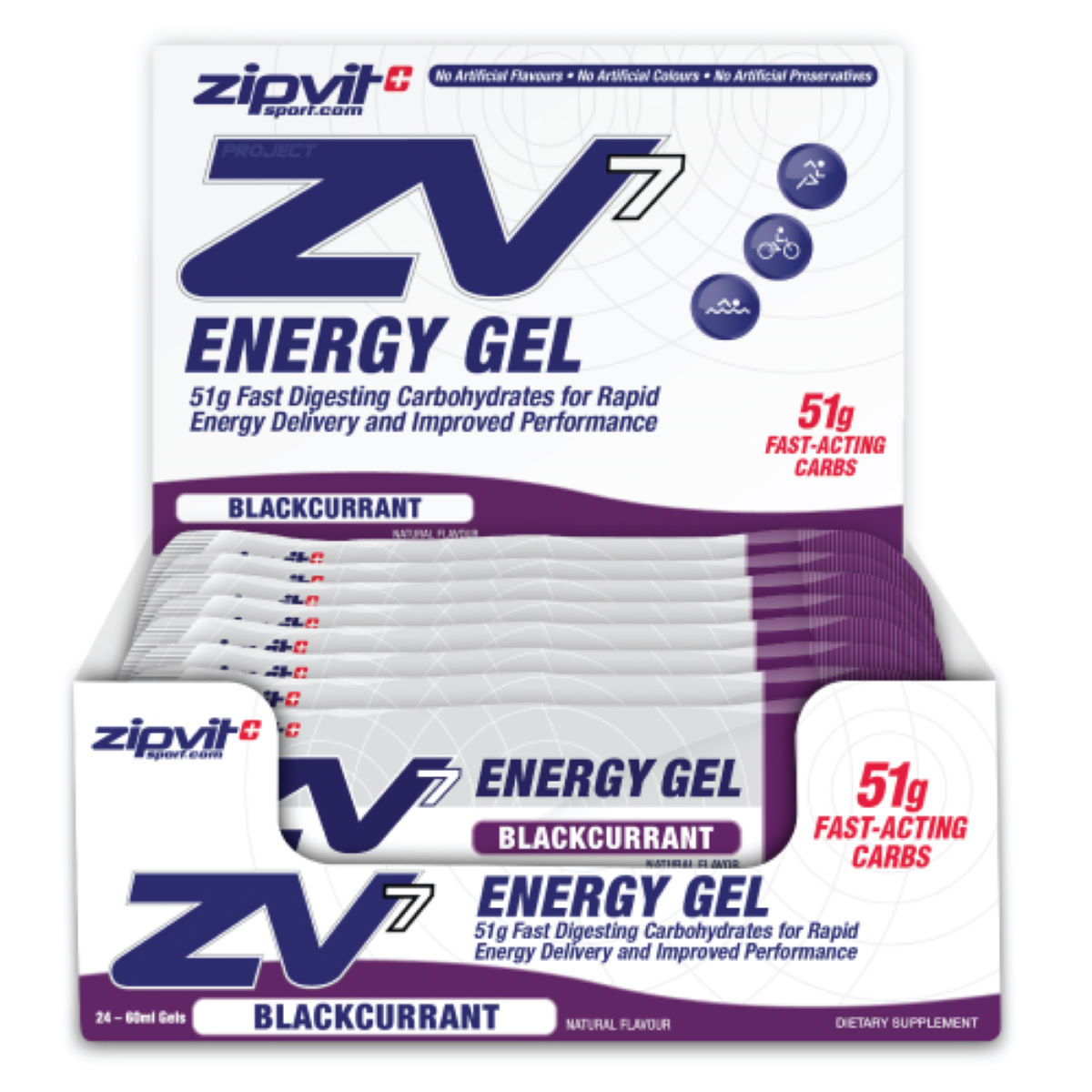 ZipVit Sport ZV7 Energy Gel - 24 x 60ml