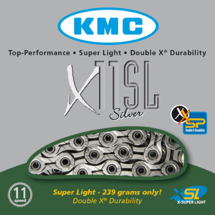 KMC X11-SL Silver 11 Speed Chain