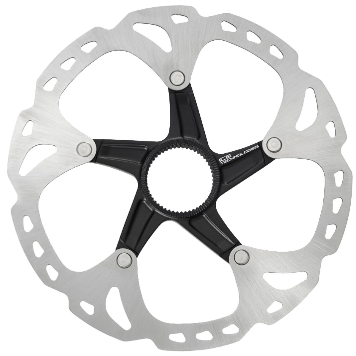 Disque Shimano XT et Saint RT81 Ice-Tec (180 mm, CL) - 180mm Centre-Lock Silver Grey/Black Disques de freins