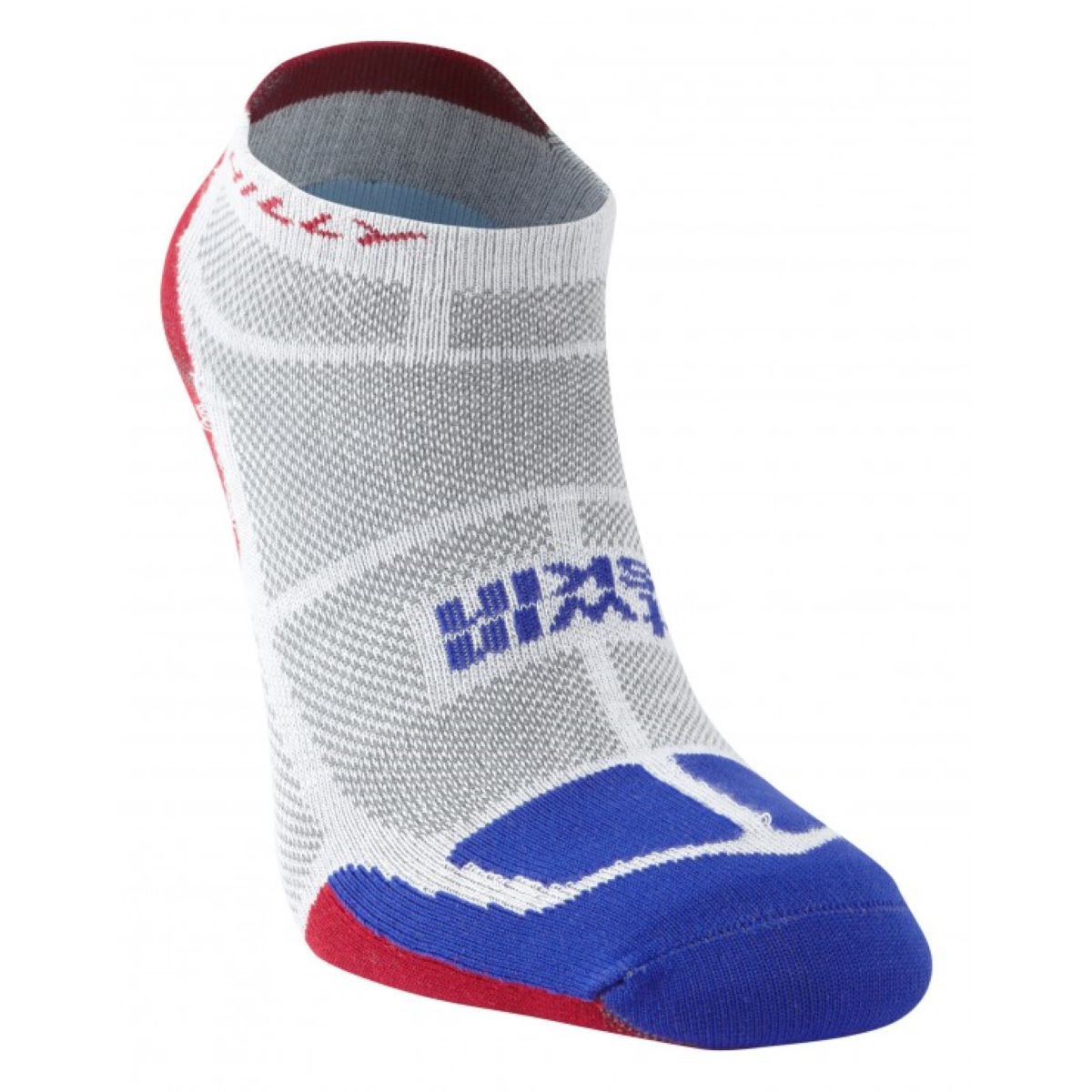 Chaussettes Hilly TwinSkin - XL Grey/Blue/Red Chaussettes de running