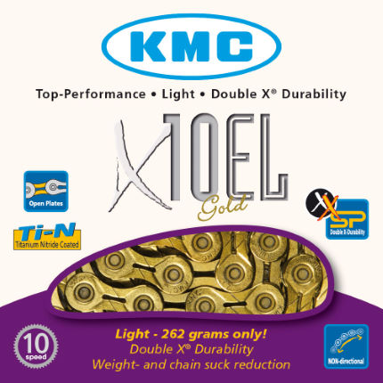 KMC X10-EL Gold 10 Speed Chain