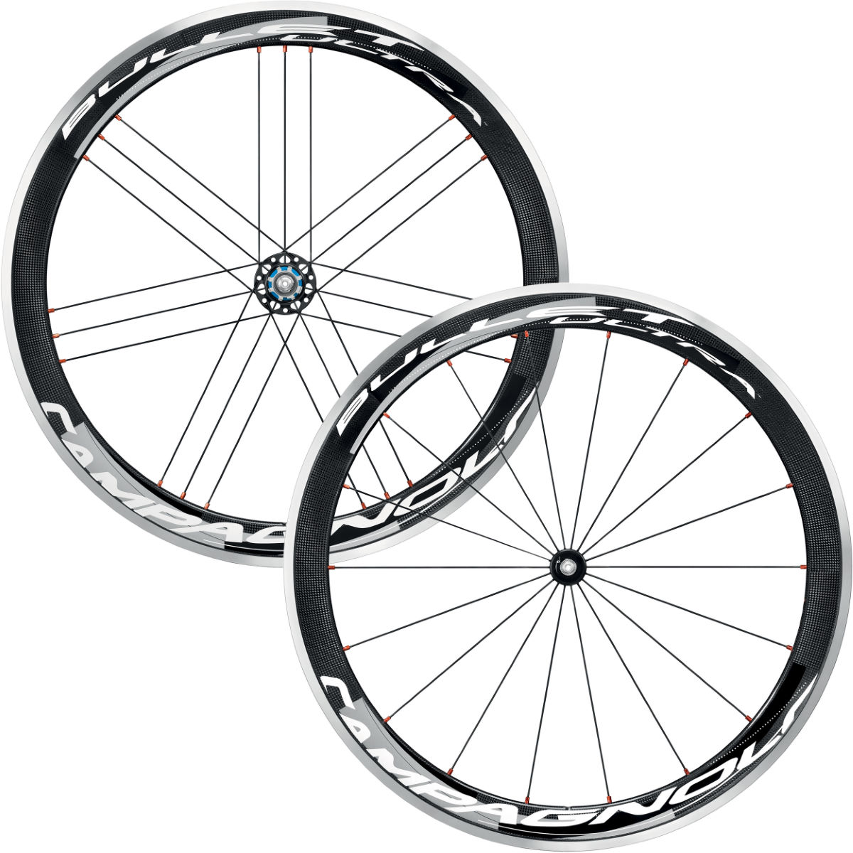 Paires de roues Campagnolo Bullet Ultra 50 Cult Dark Label (carbone) - Campagnolo Freehub Black/White/Grey Roues performance