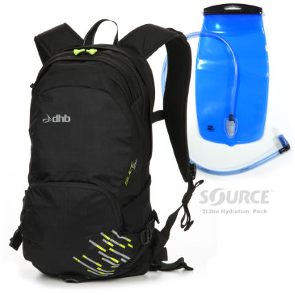 dhb Luggit Slice 15L Rucksack + FREE Hydration Pack
