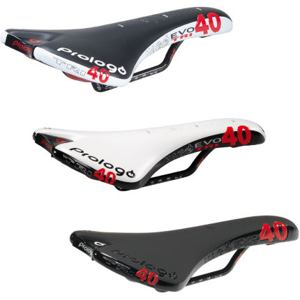 Prologo Nago Evo Tri40 Nack Saddle with Carbon Rails