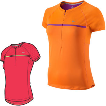 Nike Ladies Sphere Short Sleeve Half Zip Top SS12