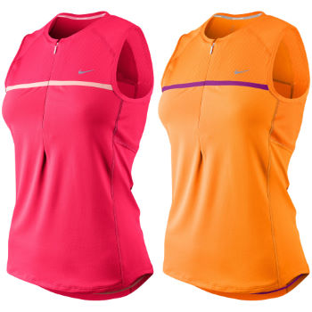Nike Ladies Sphere Sleeveless Half Zip Top SS12