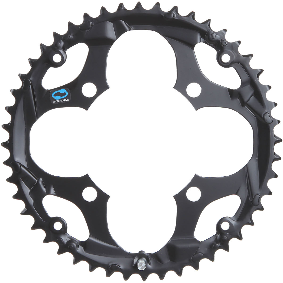 Plateau Shimano FC-M411 (noir, 48 dents) - 10 Speed 48T 104bcd Noir